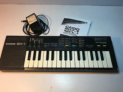 Casio SK-1 Sampler 1980s Synthesizer Keyboard Tested Works Totally Cool Vintage