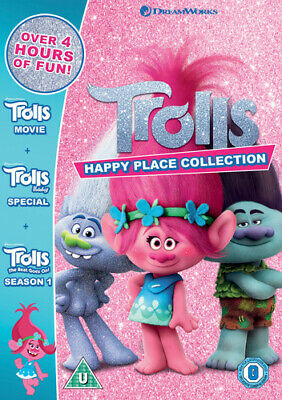 Trolls - Happy Place Collection DVD (2019) Mike Mitchell cert U 3 discs