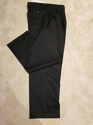 Mens Black Smart Trousers Size 40 Waist 40 Length 31 VGC M&S
