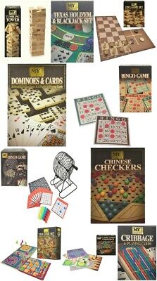 My Traditional Games Cards Wooden Blocks Board Games Kids Adults Gift Present