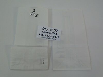 Qty 50 #2 White Paper Kraft Snack Lunch Grocery Merchandise Retail Bags