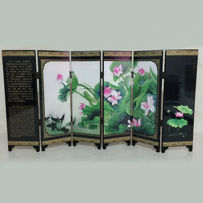 1pc Durable Chinese Style Small Folding Panels Privacy Screen Room Dorm Divider