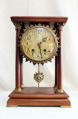 Warmink four pillar Sun Clock  Wuba  Double Bell  Burlwood