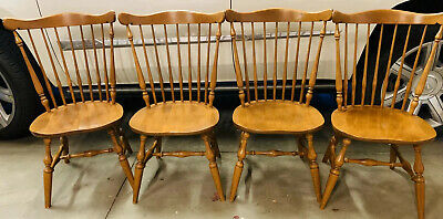 Ethan Allen Heirloom Maple Dining Chairs - Set Of 4