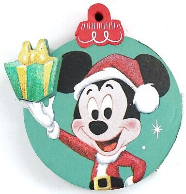 New Disney Parks Santa Mickey & Present Holiday Ornament Car Antenna Topper