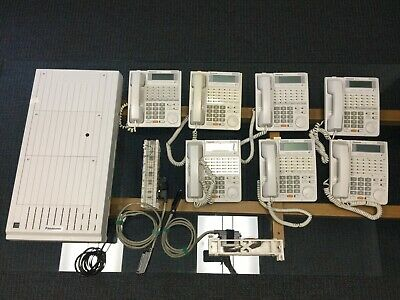 Panasonic KX TD1232 Digital Super Hybrid,TVS100 Voice Processing System,7 Phones