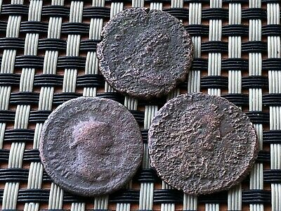 Lot Of 3 Ancient Roman Imperial Coins Ae2 And Ae Antoninianus.