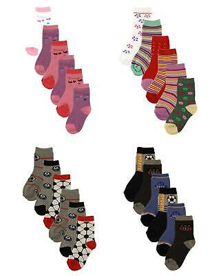 6 Pairs Kids Thermal Socks Boys Girls Thick Warm Boot Welly Sock For Children