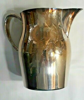 "Vintage Sheridan Silver on Copper Water Pitcher With Ice Lip 7""Tall"