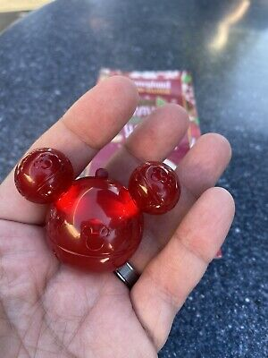 Disney Parks 2019 Mickey Jingle Bell Glow Cube Red