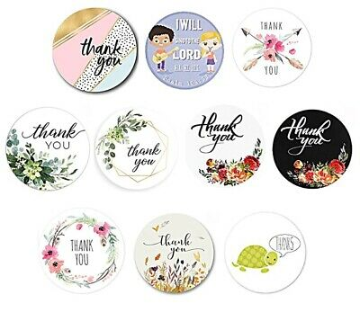 Round Sticky Labels Thank You Handmade Gift Craft Stickers Label Seals 2.5cm