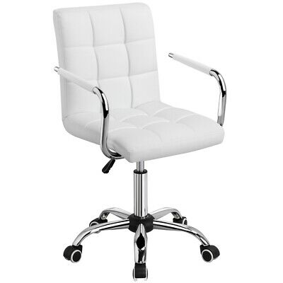 Awesome Low Back Armless White Ribbed Leather Designer Swivel Task Andrewgaddart Wooden Chair Designs For Living Room Andrewgaddartcom