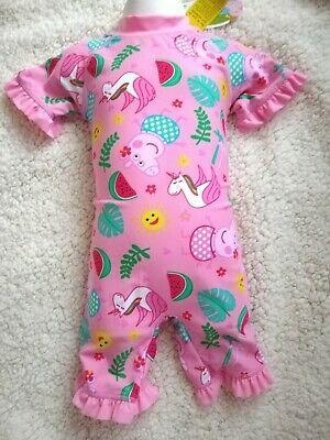 New Girls Peppa Pig Swimming costume Swimsuit UV Protection Sunsuit 12-18 mths
