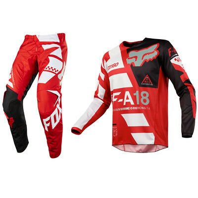 Fox Racing 180 Motocross MX Set Hose Trikot - Sayak Rot