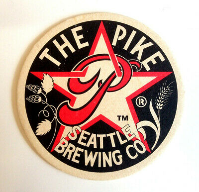 """Collectable  Beer Coaster – """"The Pike Seattle Brewing Co"""""""