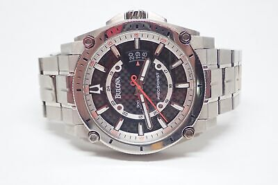 Bulova Precisionist B1 2011 Titanium Black Dial Quartz Mens Watch 96B133