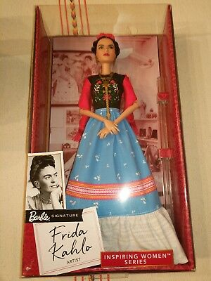 Barbie Inspiring Women Series Frida Kahlo Doll. Mexican Artist. Mattel NEW