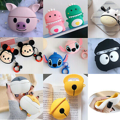 3D Cartoon Silicone Soft Protective Case Cover Skin For Apple Airpods Pro w stic