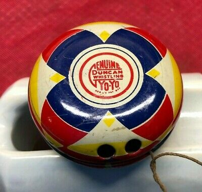Duncan YoYo Whistling Metal Toy Old Vtg Antique Yo Yo