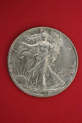 1943 P Walking Liberty Half Dollar Exact Coin Pictured Flat Rate Shipping OCE 59