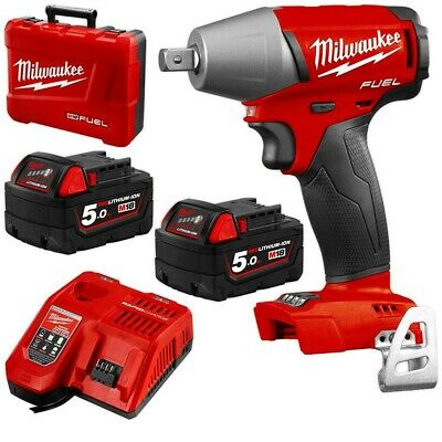 New Milwaukee M18 Fiwp12-502C Impact Wrench Kit With Pin Detent