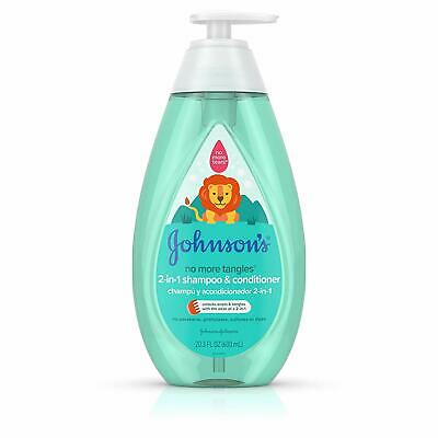 Johnson's No More Tangles Detangling 2-in-1 Toddler  Kids Shampoo  Conditioner