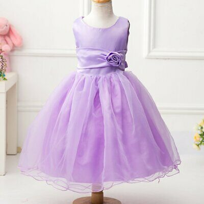 Girls Formal Christening Party Gown Bridesmaid First Communion Wedding 67