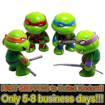 Teenage Mutant Ninja Turtles TMNT 4 PCS Action Figures Doll Toys Kids Xmas Gifts