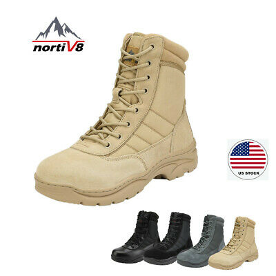 NORTIV 8 Mens Waterproof Combat Military Tactical Work Boots Ankle Hiking Boots