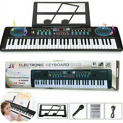 61 Key Music Digital Electronic Keyboard Electric Piano Organ w Music Stand Toys