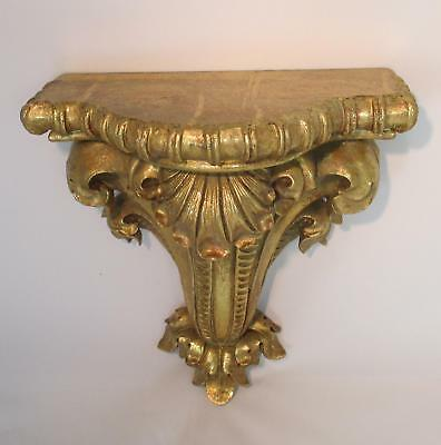 Wall Console Baroque Art Nouveau Gold Wood Look Wall Shelf Console Antique Tray