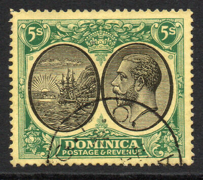 Dominica 5/- Stamp c1923-33 Fine Used SG 90  (261)
