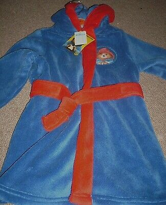 BNWT PADDINGTON BEAR DRESSING GOWN ROBE SOFT FLEECE KIDS BOY GIRL 2-3yr bnwt