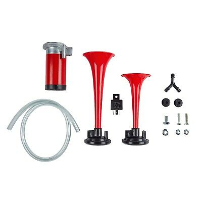 Ring 118dB Twin Air Horn Kit with Fittings