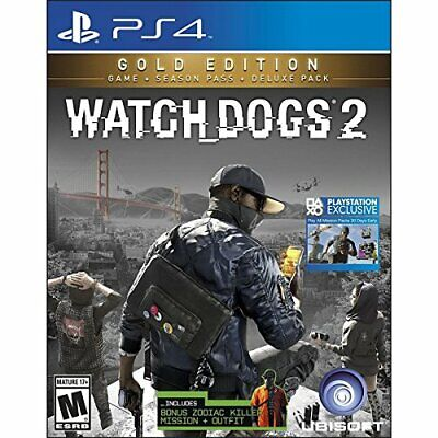 Ubisoft Watch_Dogs 2 Gold Edition, PS4 Gold PlayStation 4 video ... - Game  XQVG