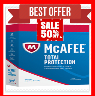 McAfee Total Protection 2020 5 Years 5 Device License Key