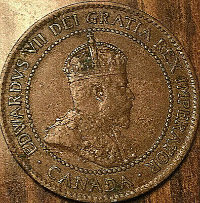 1903 CANADA LARGE CENT LARGE 1 CENT PENNY COIN - Nicer example!