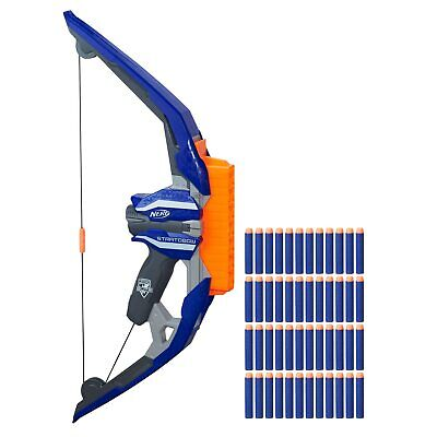 Nerf N Strike Stratobow Bow Outdoor Play Set 15 Dart Clip No Reloading Necessary