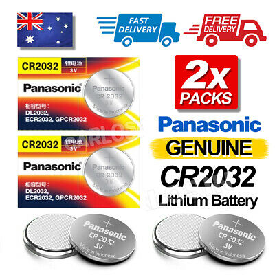 2x Genuine For Panasonic CR2032 LOOSE Packing Battery Lithium Batteries Button