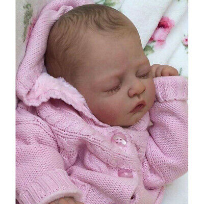 Lifelike 19inch Reborn Kits Unpainted Baby Doll with Head 3/4 Arms Full Legs