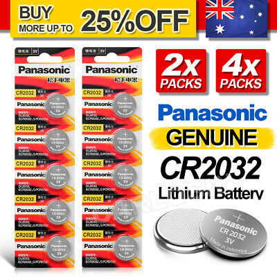 2/4x Genuine For Panasonic CR2032 LOOSE Packing Battery Lithium Batteries Button