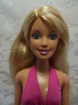 "Barbie 2006 Beach Fun 12"" Barbie Doll with Two Piece Swim Suit"