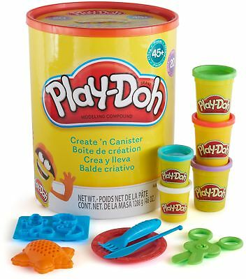 Play Doh Create N Canister Set Kids Crafts Modeling Clay Kit 20 Cans 45 Tools