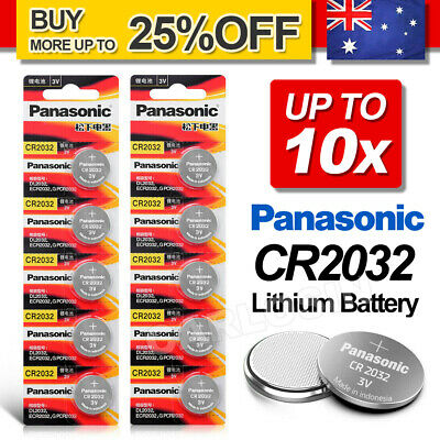 10x For Genuine Panasonic CR2032 LOOSE Packing Battery Lithium Batteries Button