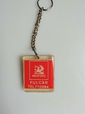 Vintage Acrylic Double Sided Promotional Car Keyring Bedford Opel VGC