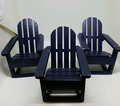 Chair Adirondack infinished dollhouse miniature T4619 1//12 scale
