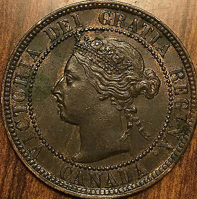 1893 CANADA LARGE CENT PENNY COIN LARGE 1 CENT COIN - Fantastic example!