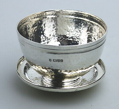 Antique Arts & Crafts Solid Silver Sweet Serving Bowl on Stand Chester C.1905