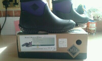 Women's Muckster II Ankle Boots Muck Wellies Garden Boot Purple/Black UK5 BNIB!!