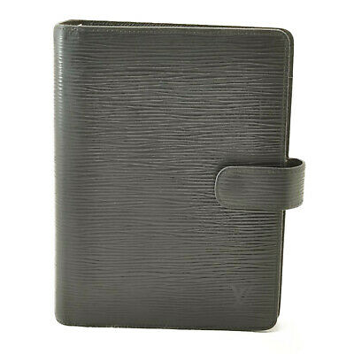 LOUIS VUITTON Epi Agenda MM Day Planner Cover Black R20042 LV Auth th060